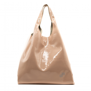 Shopping bag Olivia pope rosa in pelle verniciata
