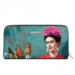 Woman wallet Alviero Rodriguez FRIDA BUTTERFLY PORTAFOGLI ZIP ECO FB Unico