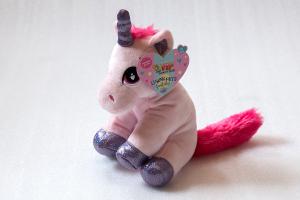 Unicorno Peluche 3 colori cm 25