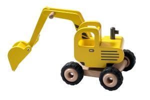 GOKI - Scavatore giallo in Legno 20 cm