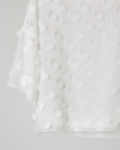 Camicia avorio con cuori in seta