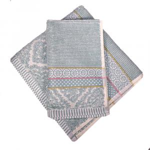 Set 1+1 asciugamano e ospite PIP STUDIO Soft Zellige azzurro