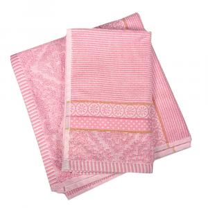 Set 1+1 asciugamano e ospite PIP STUDIO Soft Zellige rosa