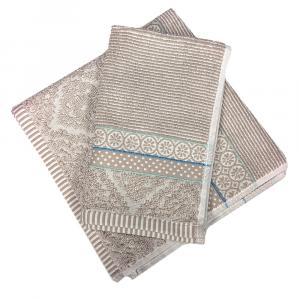 Set 1+1 asciugamano e ospite PIP STUDIO Soft Zellige khaki