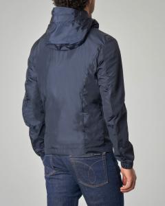 Giacca blu ultra-light con cappuccio