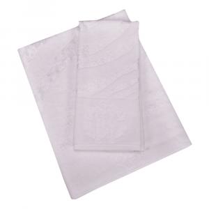 Roberto Cavalli set 1+1 asciugamano e ospite ZEBRAGE spugna di cotone - bianco
