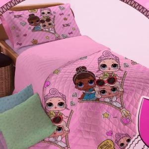 Copriletto trapuntato singolo 1 piazza LOL SURPRISE rosa bamboline