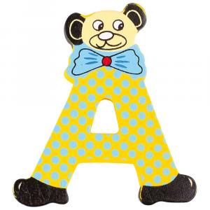 Lettere decorative colorate in legno nomi bambini decorazione orsetto