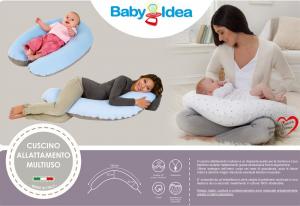 Cuscino allattamento multifunzionale  Smile pois grigio  related image
