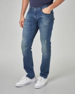 Jeans j13 sabbiato con micro-abrasioni