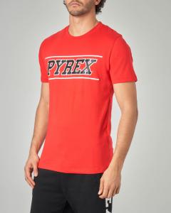T-shirt rossa con logo nero