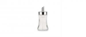 Dosatore zucchero in acciaio e vetro con dosaggio automatico cm.16,5h diam.5