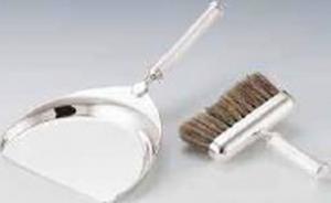 Paletta raccoglibriciole con spazzola placcato argento cm.25x15