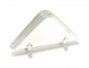 Portasalviette placcato argento stile Inglese cm.14,5x2,5x8h