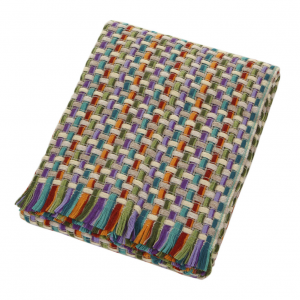 Missoni Home plaid con frange 130x190 cm JOCKER 128 multicolore