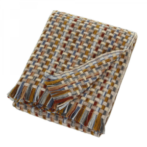 Missoni Home plaid con frange 130x190 cm JOCKER 148 multicolore
