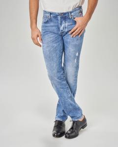 Jeans 529 lavaggio super stone wash con abrasioni