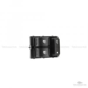 Interruttore A Pulsante Per Funzione Alzacristalli Elettrico Compatibile Per Auto Fiat Con Codice Oem 6490-X8 735421419 7354217140 735487419 Lato Guida Parte Sinistra Materiale In Abs Colore Nero
