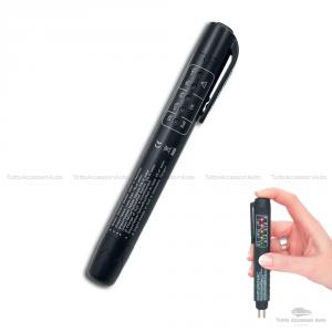 Tester Digitale Con Sonde Per Valutare La Qualità Del Liquido Olio Freni Strumento Universale Test Fluido Freni Per Auto Autoveicoli Moto Con Display 5 Indicatori Led