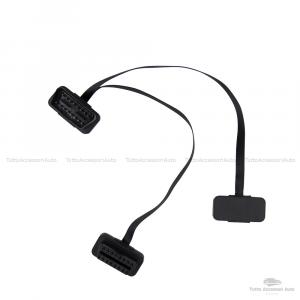 Cavo Prolunga Estensione 16 Pin Sdoppiatore Per Dispositivi Diagnosi Obd2 Obdii Connessione Wifi Usb Bluetooth 1 Connettore Maschio E Due Connettori Femmina Compatibile Per Tutti I Veicoli