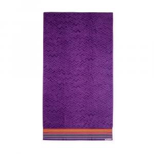 Missoni Home telo mare TEX 49 viola tinta unita 100x180 cm puro cotone