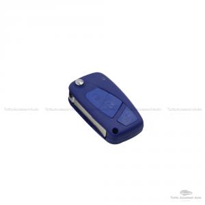 Cover Colorata Protezione In Silicone Morbido Per Scocca Guscio Chiave 3 Tasti Pieghevole Auto Fiat Grande Punto, Panda, Stilo, Bravo, Ducato, Ulysse (Bianco)
