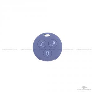 Cover Guscio Colorato Case Materiale Silicone Morbido Per Scocca Chiave Telecomando 3 Tasti Autovetture Smart 450 Fortwo Coupe' Vari Colori (Grigio)