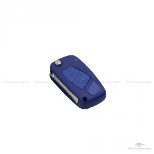 Cover Colorata Protezione In Silicone Morbido Per Scocca Guscio Chiave 3 Tasti Pieghevole Auto Fiat Grande Punto, Panda, Stilo, Bravo, Ducato, Ulysse (Rosso)