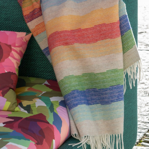 Missoni Home throw with fringes WESLEY 100 striped