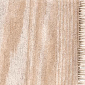 Missoni Home plaid con frange 130x190 cm WRIGHT 481 beige