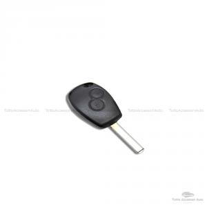 Cover Guscio Colorato Case Materiale Silicone Morbido Per Scocca Chiave Telecomando 2 Tasti Autovetture Renault Clio Twingo Modus Kangoo Vari Colori (Rosso)