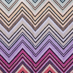 Missoni Home throw with fringes PERSEO 159 multicolor Zig-zag