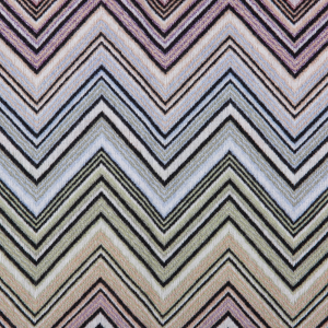 Missoni Home plaid with fringes 130x190 cm PERSEO 160 multicolored zigzag