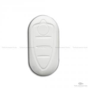 Cover Colorata Protezione In Silicone Morbido Per Scocca Guscio Chiave 3 Tasti Pieghevole Auto Alfa Romeo Mito Giulietta (Bianco)