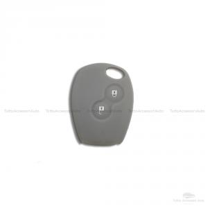 Cover Guscio Colorato Case Materiale Silicone Morbido Per Scocca Chiave Telecomando 2 Tasti Auto Dacia Logan Sandero Duster Express Vari Colori (Grigio)