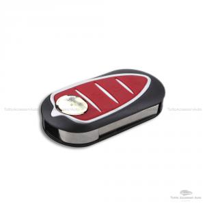 Cover Colorata Protezione In Silicone Morbido Per Scocca Guscio Chiave 3 Tasti Pieghevole Auto Alfa Romeo Mito Giulietta (Rosso)