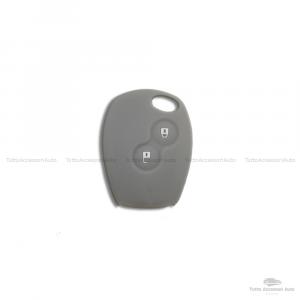 Cover Guscio Colorato Case Materiale Silicone Morbido Per Scocca Chiave Telecomando 2 Tasti Autovetture Renault Clio Twingo Modus Kangoo Vari Colori (Grigio)