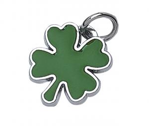 Piastrina quadrifoglio verde cm.2,4x2,1x0,2h
