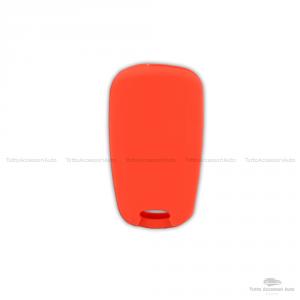 Guscio Cover In Silicone Colore Per Protezione Scocca Telecomando Chiave 3 Tre Tasti Auto Hyundai I10 I20 I30 Ix20 Ix35 Elantra Vari Colori (Rosso)