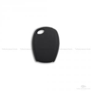 Cover Guscio Colorato Case Materiale Silicone Morbido Per Scocca Chiave Telecomando 2 Tasti Autovetture Renault Clio Twingo Modus Kangoo Vari Colori (Nero)