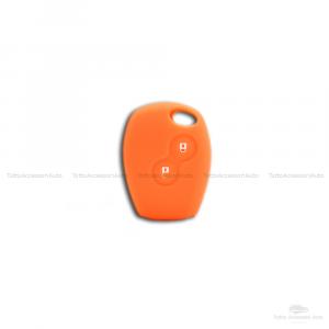 Cover Guscio Colorato Case Materiale Silicone Morbido Per Scocca Chiave Telecomando 2 Tasti Autovetture Renault Clio Twingo Modus Kangoo Vari Colori (Arancio)
