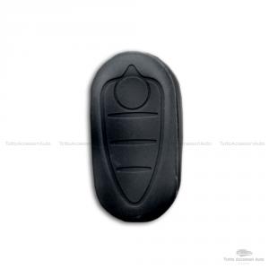 Cover Colorata Protezione In Silicone Morbido Per Scocca Guscio Chiave 3 Tasti Pieghevole Auto Alfa Romeo Mito Giulietta (Nero)