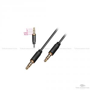 Cavo Audio Aux Doppio Jack Maschio 3,5Mm Rivestimento Gomma Connettori Dorati In Alluminio Per Connettere Smartphone (Iphone, Samsung, Huawei) Mp3 Tablet Pc Cuffie Audio Autoradio Tv (Rosso)