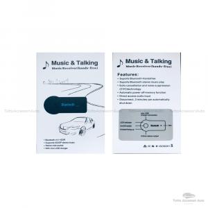 Ricevitore Senza Fili Bluetooth A2Dp Stereo Mp3 Musica Audio 3,5Mm Aux Con Microfono Per Vivavoce Telefonata Adattatore Jack 3.5Mm Kit Vivavoce Bluetooth V3.0 Auto Aux Stereo Audio