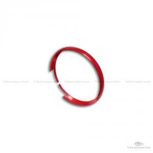 Anello Decorativo Cover Ring Per Auto Mini Cooper One D S Countryman In Alluminio Guscio Scocca Telecomando Chiave Portachiavi (Rosso)