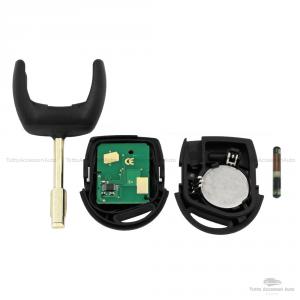 Chiave Guscio Scocca Lama Telecomando 3 Tasti Per Auto Ford Fiesta Focus Mondeo Ka Transit Con +4D60 Chip 433Mhz E Batteria Cr2032 Inclusa