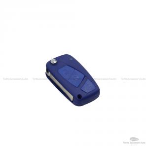 Cover Colorata Protezione In Silicone Morbido Per Scocca Guscio Chiave 3 Tasti Pieghevole Auto Fiat Grande Punto, Panda, Stilo, Bravo, Ducato, Ulysse (Nero)