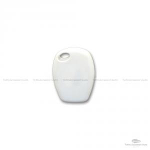 Cover Guscio Colorato Case Materiale Silicone Morbido Per Scocca Chiave Telecomando 2 Tasti Autovetture Renault Clio Twingo Modus Kangoo Vari Colori (Bianco)