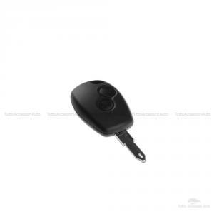 Cover Guscio Colorato Case Materiale Silicone Morbido Per Scocca Chiave Telecomando 2 Tasti Auto Dacia Logan Sandero Duster Express Vari Colori (Nero)