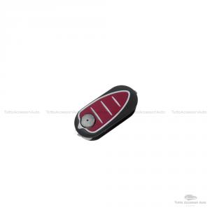 Tastiera Pad Pulsanti Gommino 3 Tasti Ricambio Per Telecomando Guscio Cover Scocca Chiave Alfa Romeo Mito Giulietta 147 159 166 Gt Brera Colore Rosso + Batteria 3V Cr2032